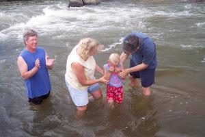 Emily's baptism July 2007