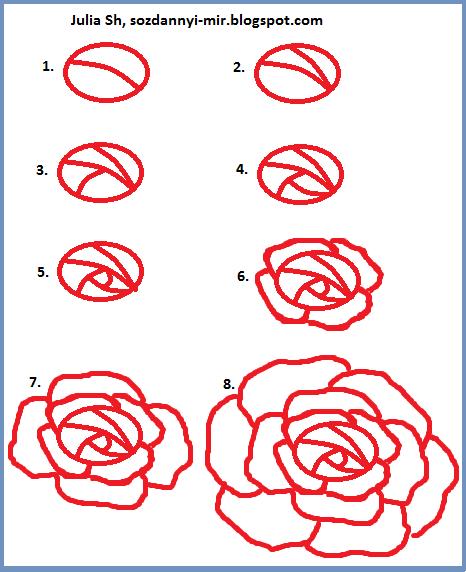 Объёмные цветы из картона