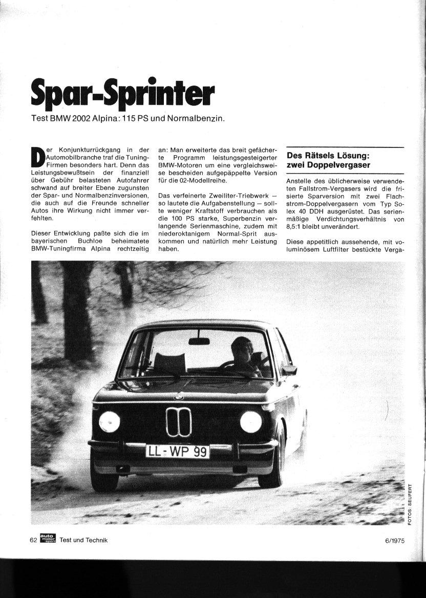 ALPINA A1 Road Test (Sport