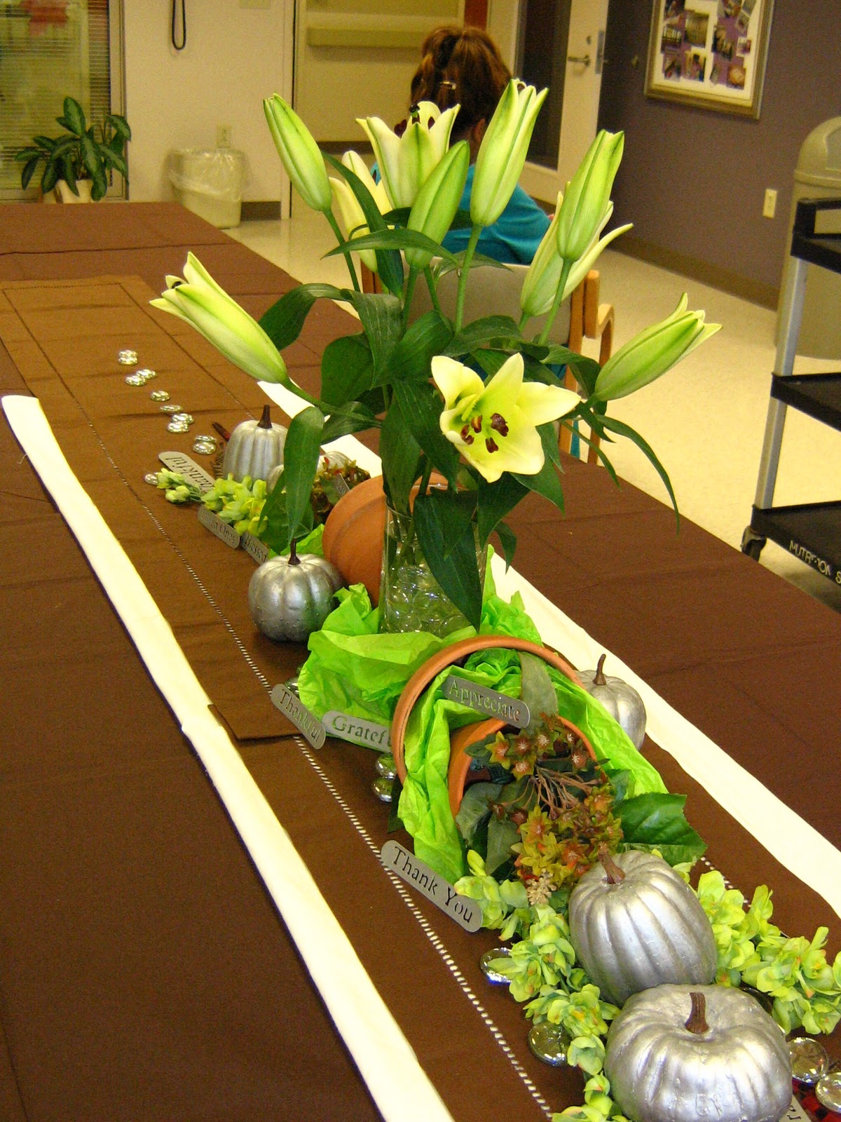 runners tree Thanksgiving table dollar Butterfly at Centerpiece  Jungle: