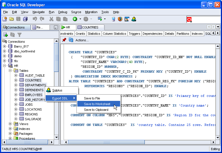 Sue 39 s blog again multiple table quick export in sql - Oracle sql developer copy table ...