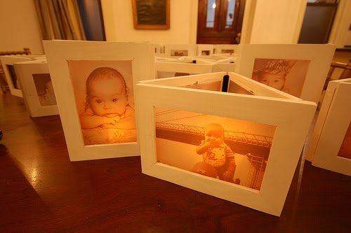 Picture Frame Luminaries - Easy Craft Ideas