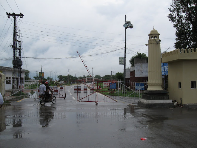 Pakistan side of the Wagha Border