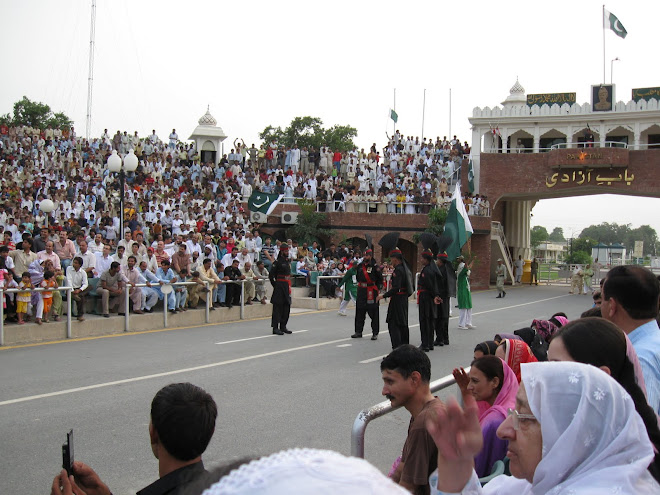 The Flag Lowering ceremony at Wagha