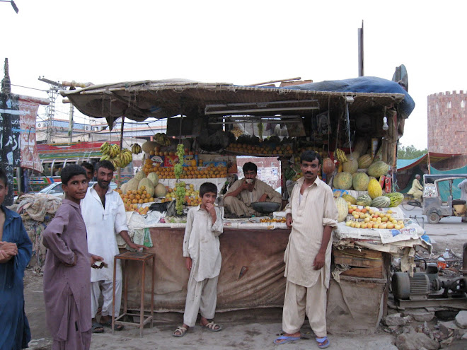 Stall outside the Hotel in Jacobabad.