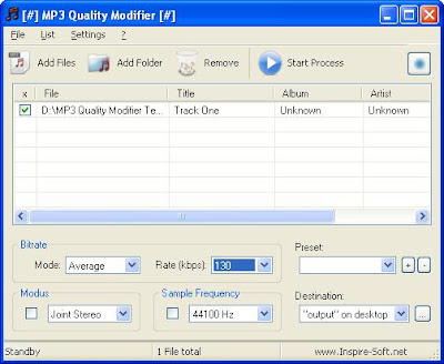 Change Mp3 filesize and quality by changing bitrate