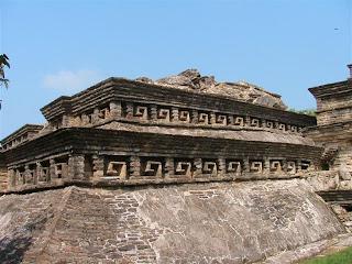 Paysages du Mexique - El Tajin - pyramide