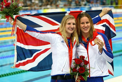 Rebecca Adlington and Joanne Jackson