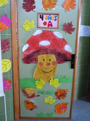 Diario de clase decoraci n oto al 1 for Decoracion puerta otono