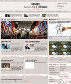 Zinmag Tribune Blogger Template
