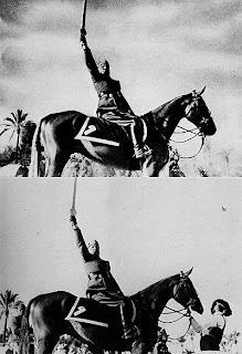 Fotografías históricas trucadas: El Caballo de Mussolini