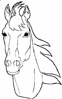 horse head coloring pages printable - photo#19