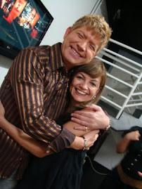 Eu com o cantor Roberto Leal !