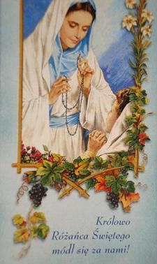 """Dlaczego nazywamy Matkę Bożą""""Różańcową"""",skoroOna za czasów swego ziemskiego życiaRóżańca nie znała?"""