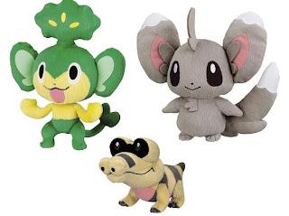Pokemon BW Plush Yanappu Meguroko Chillarmyi