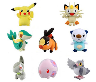 Pokemon BW Plush Oct 2011 Tomy