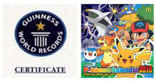 Pokemon 2010 McDonalds Calendar Guinness World Record