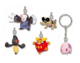 Pokemon BW Figure Key Chain Unova region Munna Mogury Meguroko Darumakka Desumasu Banpresto