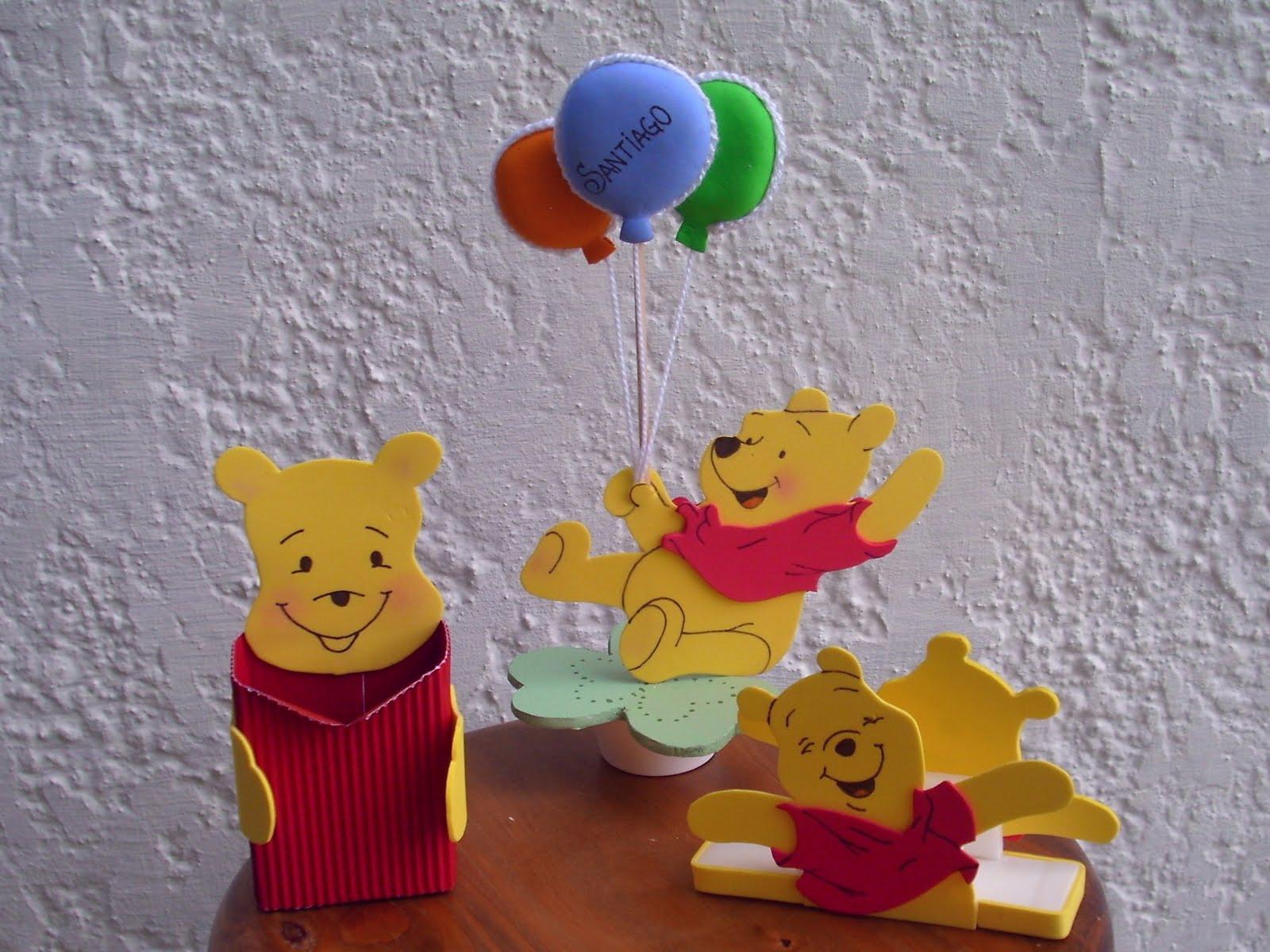 Cumpleaños Winnie Pooh en goma eva centros de mesa - Imagui