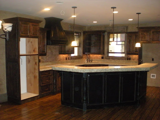 Degroff custom woodworking for Black stained cabinets