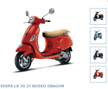 2010 Vespa LX50 2T Europe Editions
