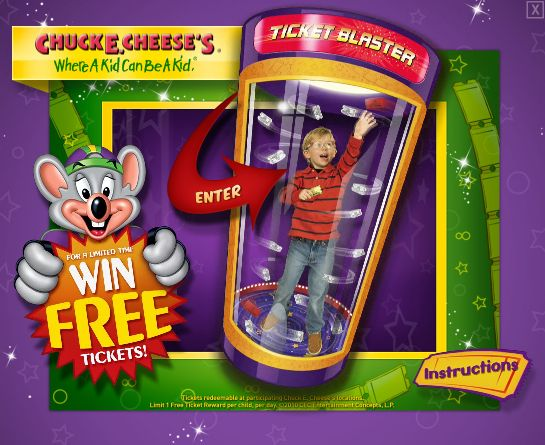 Chuck E. Rocks Ticket Blaster® Skee-ball® Chuck E. Blocks These games are ONLY for online entertainment purposes and cannot be used for free ticket reward at any locations of Chuck E. Cheese's Trinidad & Tobago.