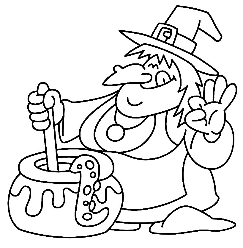 cute witch halloween coloring pages - photo#30