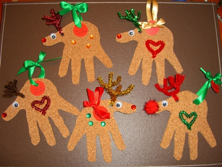 Christmas Crafts for Kids Reindeer Christmas Cards and Ornaments