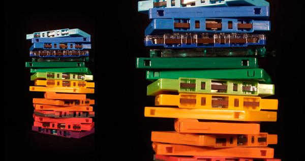 Cassette Rainbow Print