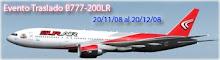Se Largo el evento traslado 777-200 de SUR