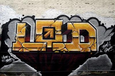 Block And Black Graffiti Letter