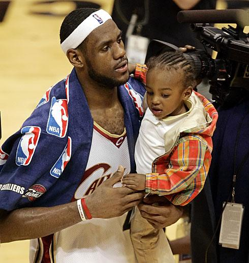 LeBron James blog: LeBron James son picture!