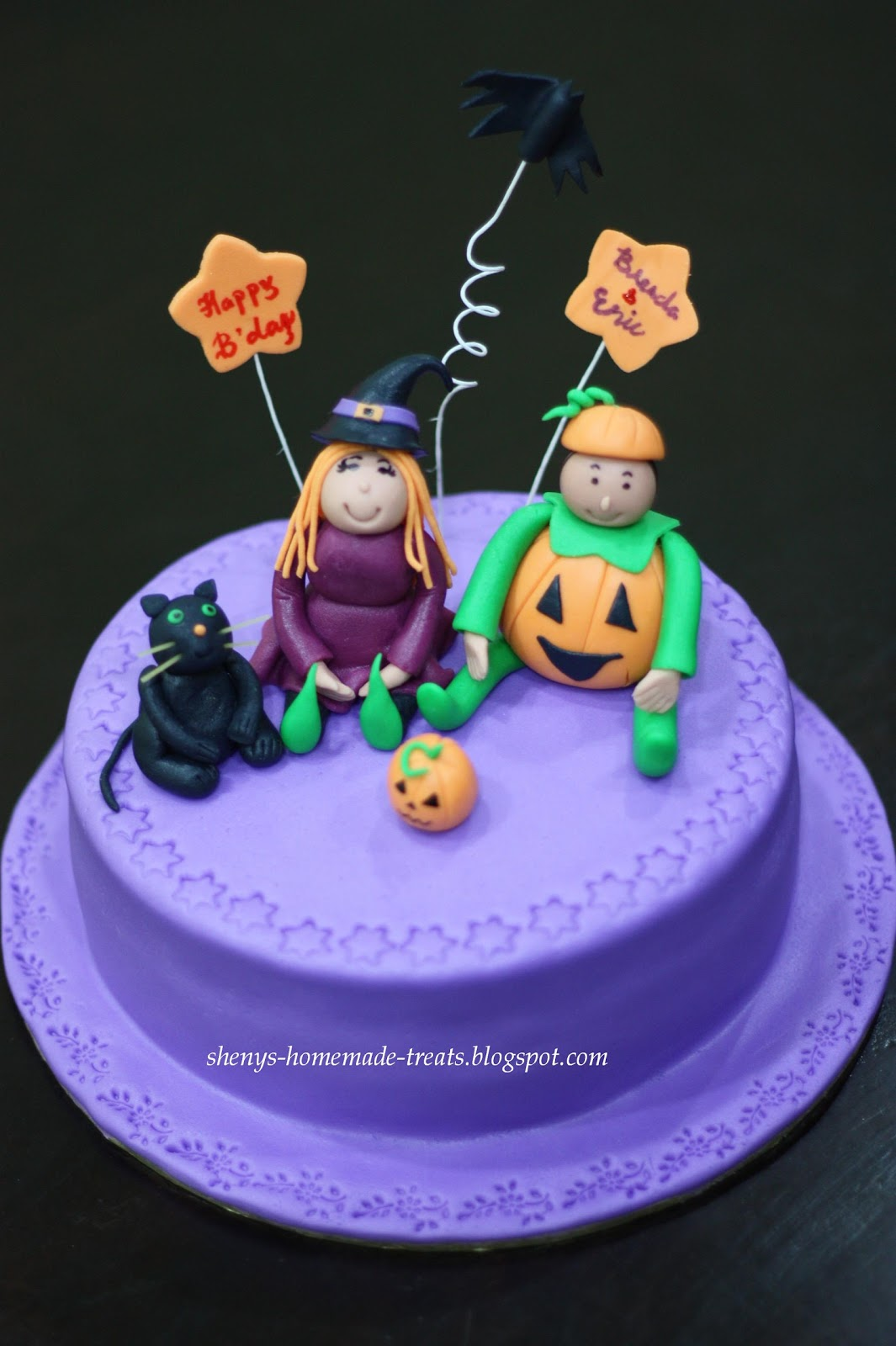 Shenys Homemade Treats Halloween Theme Birthday Cake