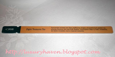 shangrila shang palace tea menu wooden stick