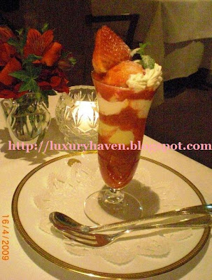 ginza shiseido parlour strawberry parfait dessert