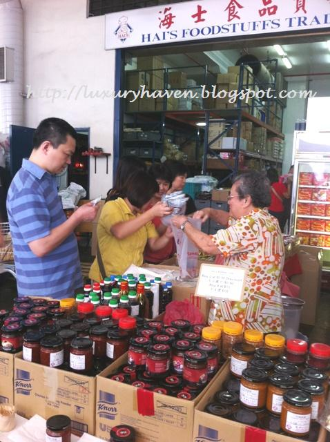 buying chilli paste at woodlands loop