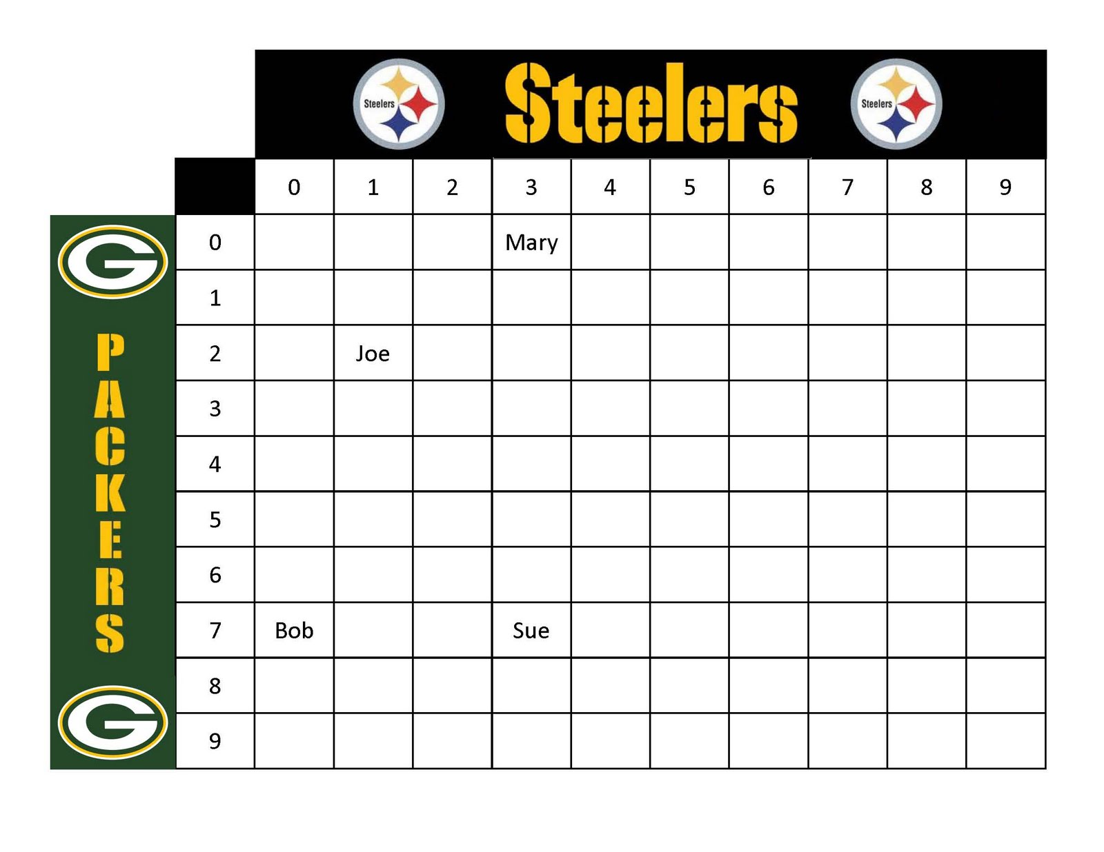 Super Bowl Football Pool Sheets Printable | Search Results | Calendar ...