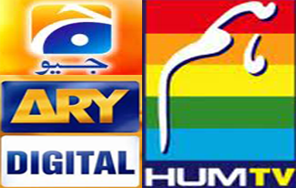 GEO, ARY DIGITAL, HUM TV