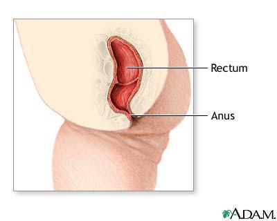 Shooting pain anus