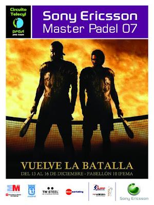 Cartel del Master Pádel Pro Tour 2007