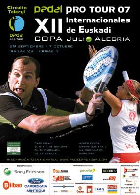 Cartel de los XII Internacionales de Euskadi de pádel, Copa Julio Alegría