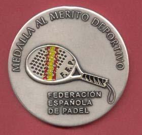Medallas al mérito deportivo de los Premios Nacionales de Pádel
