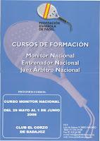 Curso de Monitor Nacional de Pádel en Badajoz
