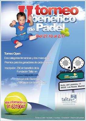 Cartel Torneo de pádel solidario Fundación Talita