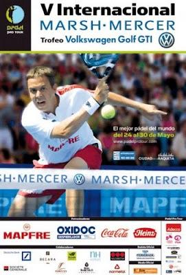 Cartel Torneo PPT de pádel Internacional de Pádel Marsh - Mercer