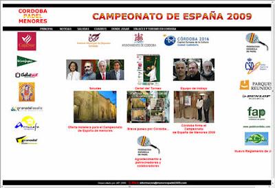Web del Campeonato España de Menores 2009