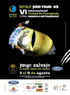 Cartel de los VI Internacionales de Pádel Ciudad de Fuengirola Trofeo Reserva del Higuerón 09