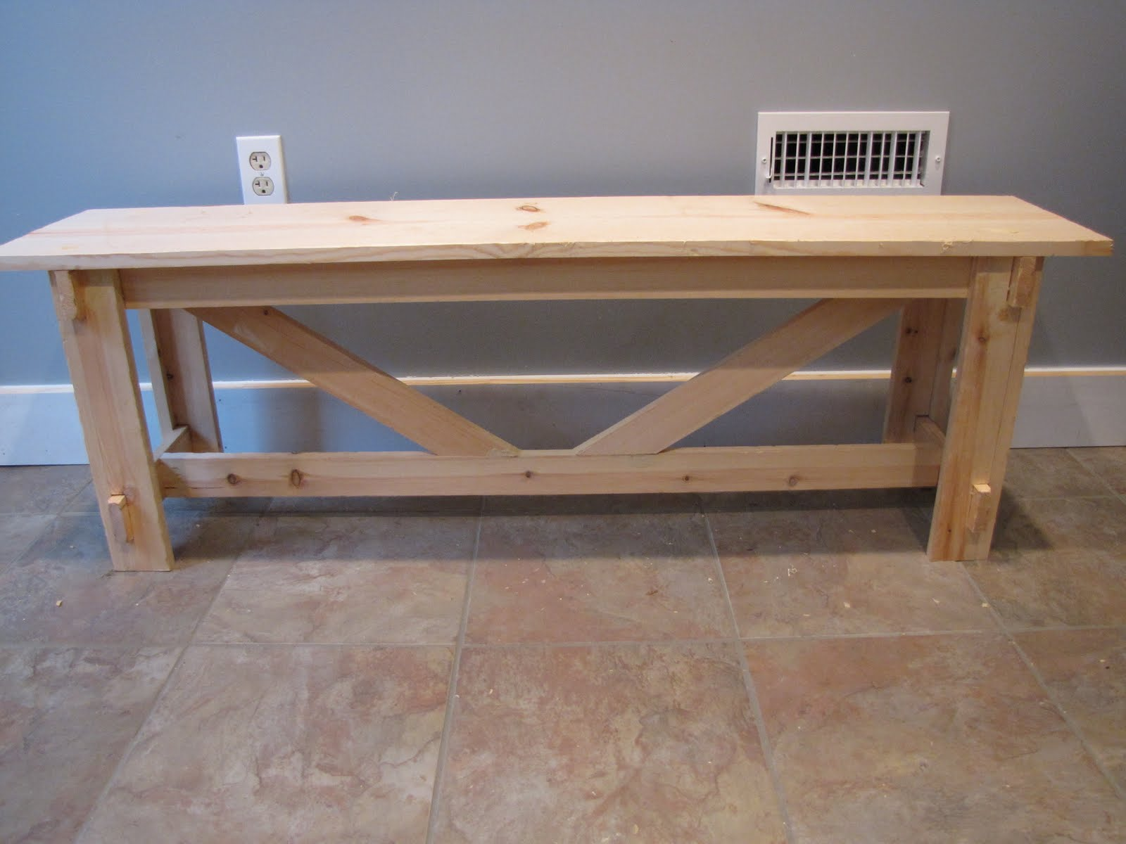 A Little Of This Mudroom Bench