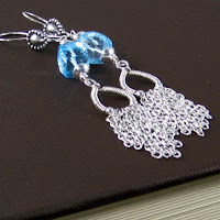 Chain Fringe earrings by Gahooletree/Oracle Gem Designs