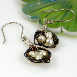 Nest earrings at SassyDLite